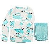 MU Damas Pijamas, Otoño E Invierno Mujeres Grueso Cálido Coral Terciopelo Pijama Imprimido Dibujos Animados Animal Traje Animal Manga Larga Señoras Cálidas Y Acogedor Pijamas Conjunto,a,M