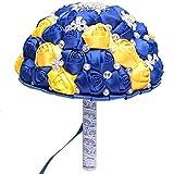 CZYLHF - Ramo de flores artificiales falsificadas y perlas, ramo de novia para casa, boda, hotel, restaurante, decoración (amarillo, azul)