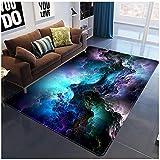 XuJinzisa Galaxy Space Star Alfombra De Impresión 3D Suave Antideslizante Dormitorio De Los Niños Sala De Estar Dormitorio Decoración del Hogar Alfombra 60X100Cm H9015
