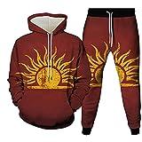 Sudadera con capucha para hombre Galaxy Sun Moon 3D con estampado y pantalones largos+chándal casual, Como se muestra en la imagen6, 6XL